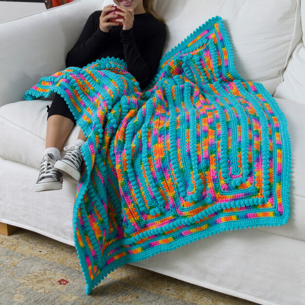 Red Heart Child's Throw in color
