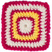 Red Heart Square B for Bright Eyes Baby Blanket