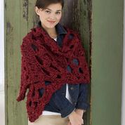 Red Heart Crochet Lace Wrap