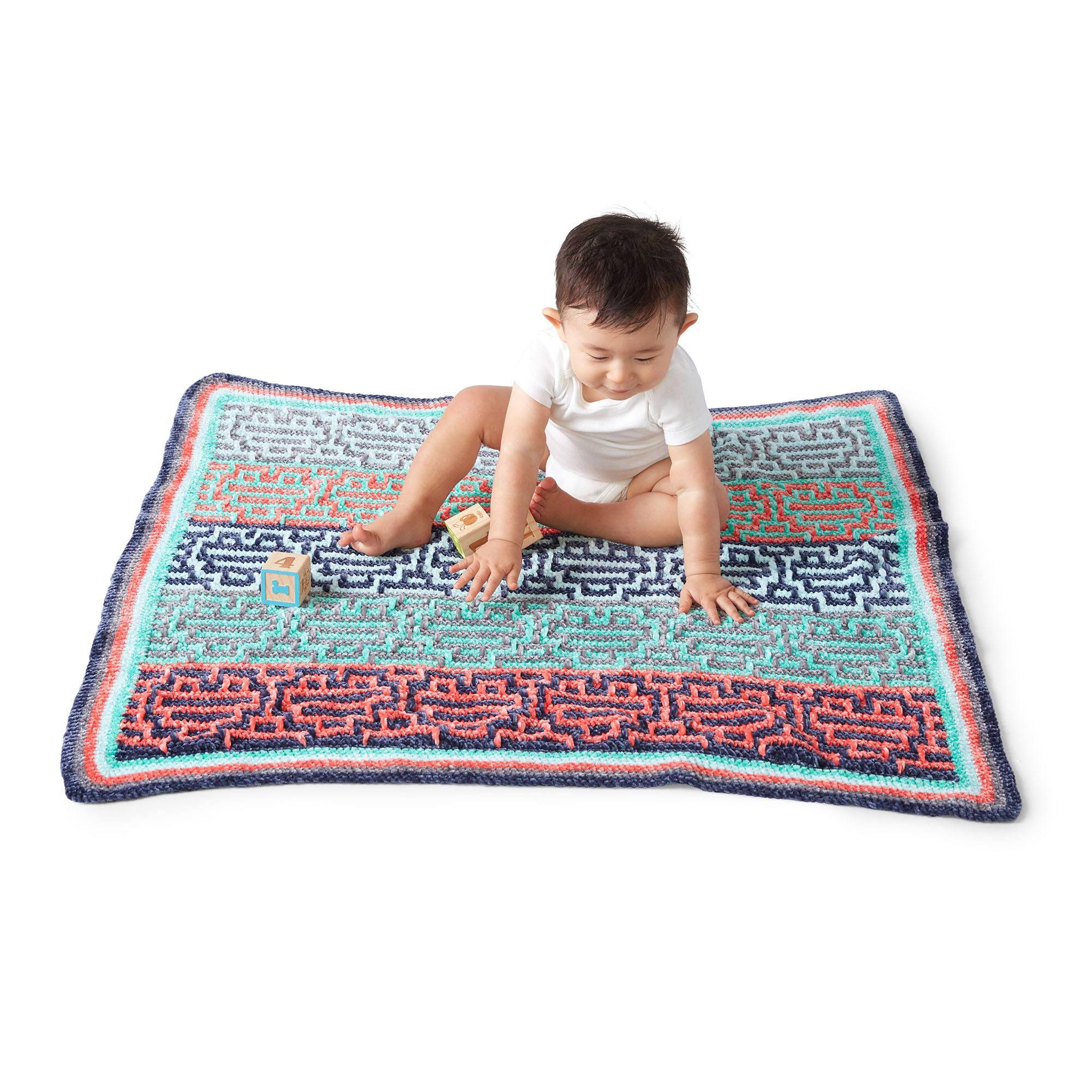 mosaic baby blanket crochet pattern - In stock
