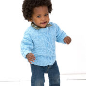 Red Heart Checks and Cable Pullover, 6 mos