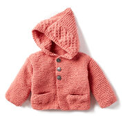 Bernat In The Details Knit Hoodie, 6 mos