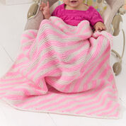 Red Heart Peppermint Stripes Blanket