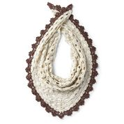 Caron Crochet It Shawl For You, Off-White