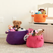 Go to Product: Bernat Clutter Catcher Baskets, Carrot Orange - S in color