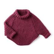 Bernat Kids Curvy Crochet Cowl Pullover, 6 yrs