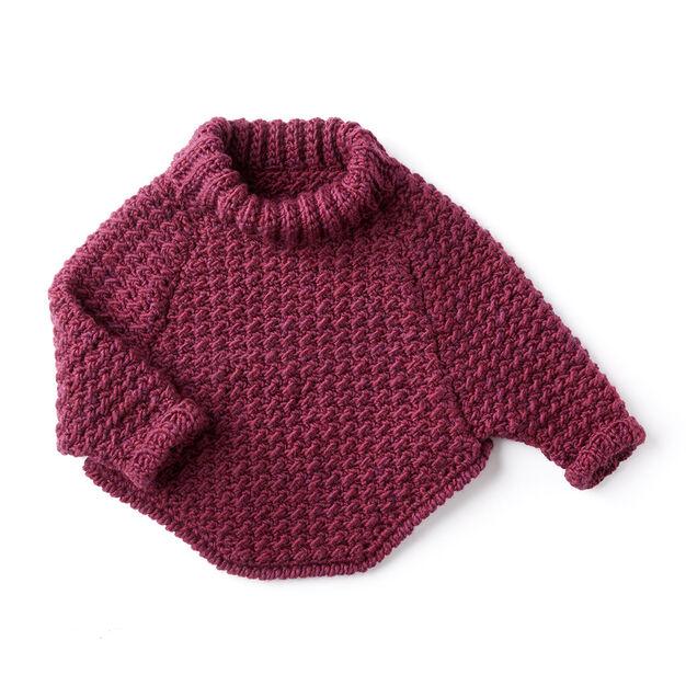 Bernat Kids Curvy Crochet Cowl Pullover 6 Yrs Yarnspirations