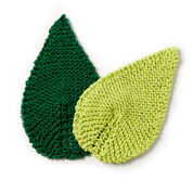 Lily Sugar'n Cream Be-Leaf It Knit Mug Rug