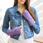 Red Heart Easy Crochet Wristers, S