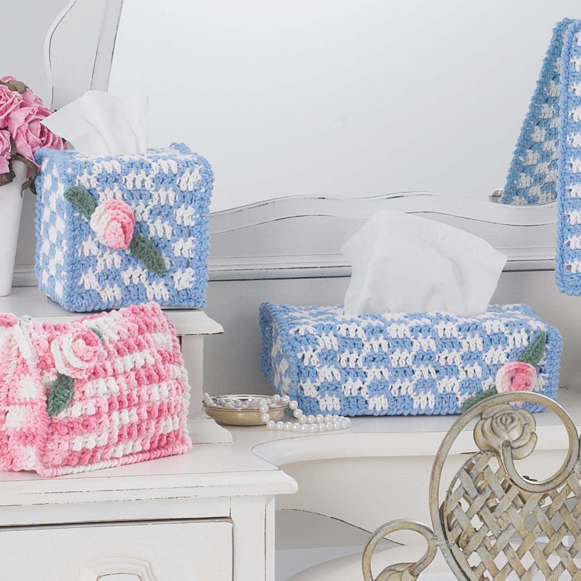 Lily Sugar\'n Cream Tissue Box Covers, S | Yarnspirations