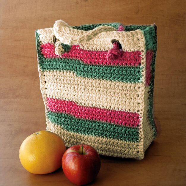 Lily Sugar'n Cream Bag to Crochet in color