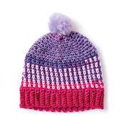 Caron Colorwork Crochet Hat