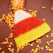 Red Heart Candy Corn Scrubby