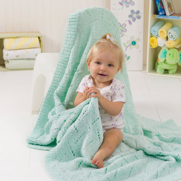 Red Heart Soft & Snuggly Baby Blanket in color