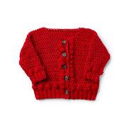 Caron Bobbly Baby Crochet Cardigan, 6 mos