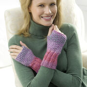 Red Heart Comfy Knit Wristers, S