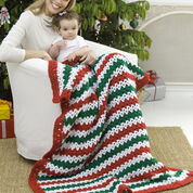 Red Heart Holiday Stripes Throw