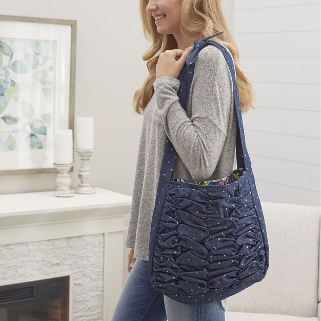 Coats & Clark A Shirr Thing Tote --Add shirring to denim in color