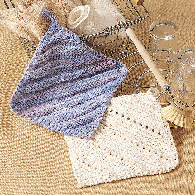 Lily Sugar'n Cream Simple Ridge & Eyelet Dishcloth in color