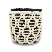 Go to Product: Patons Striped Hourglass Crochet Basket in color