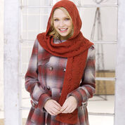 Red Heart Comfy Hooded Scarf