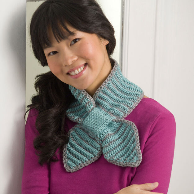 Red Heart Bow Tie Neck Warmer