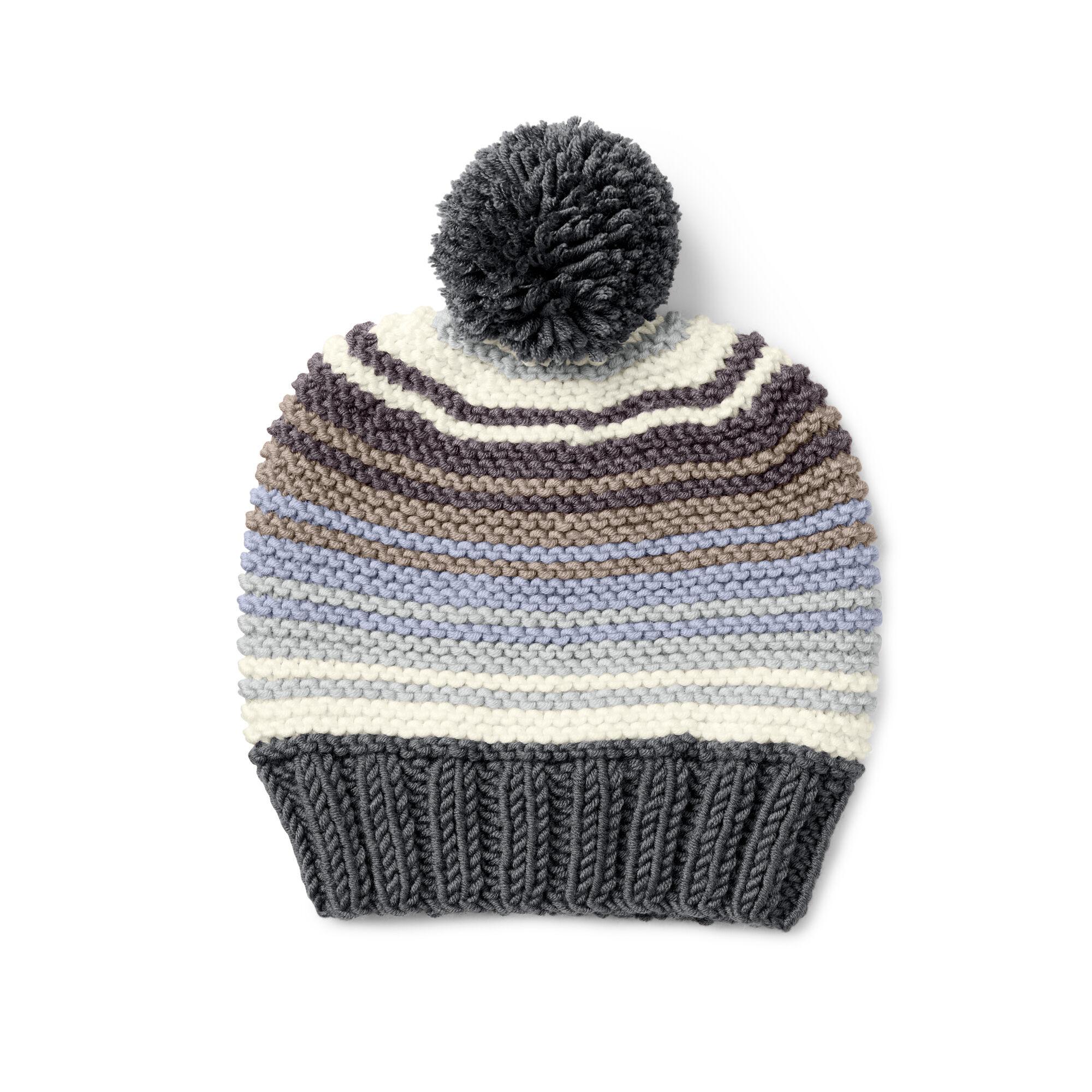 Caron x Pantone Garter Stitch Knit Hat Free Pattern  2379266a13d