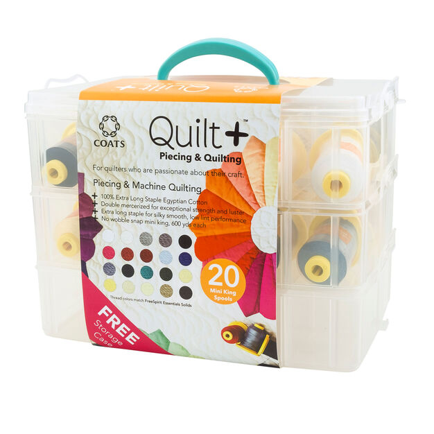 Coats & Clark Quilt + Piecing & Quilting Thread with Storage Box -Clearance Shades* in color Kit