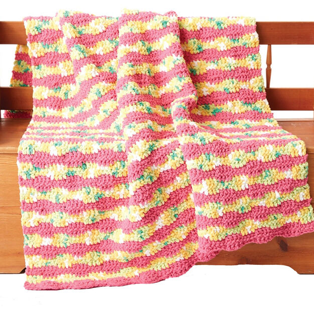 Bernat Summer Waves Crochet Blanket in color