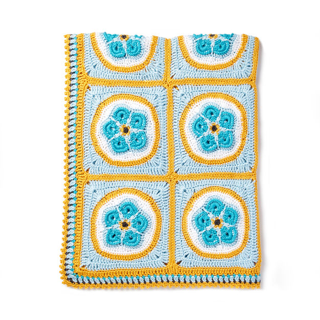 Caron Forget Me Knot Crochet Afghan