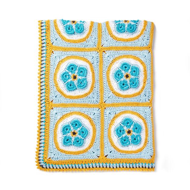 Caron Forget Me Knot Crochet Afghan
