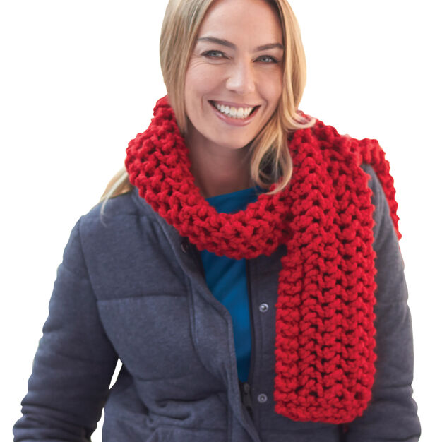 Bernat Lofty Stitch Scarf in color