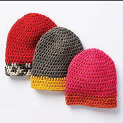 Bernat Dipped Tip Crochet Hat, Version 1 - 4/6 years