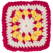 Red Heart Square A for Bright Eyes Baby Blanket