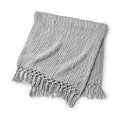 Red Heart Cozy Time Fringe Throw