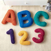 Caron ABC's & 123's Crochet Pillows, Letter A