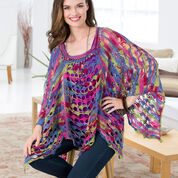 Red Heart Light & Lacy Poncho, S/M
