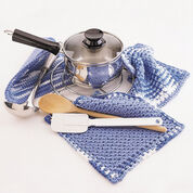 Bernat Dishcloth and Pot Holder, Dishcloth