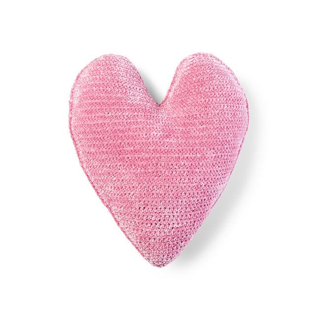 Bernat Crochet Heart Pillow in color