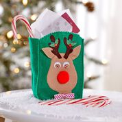 Dual Duty Reindeer Treat Bag fill with Candy or Gift Cards