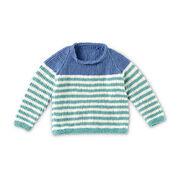 Bernat Knit Raglan Stripes Pullover, 18 Months