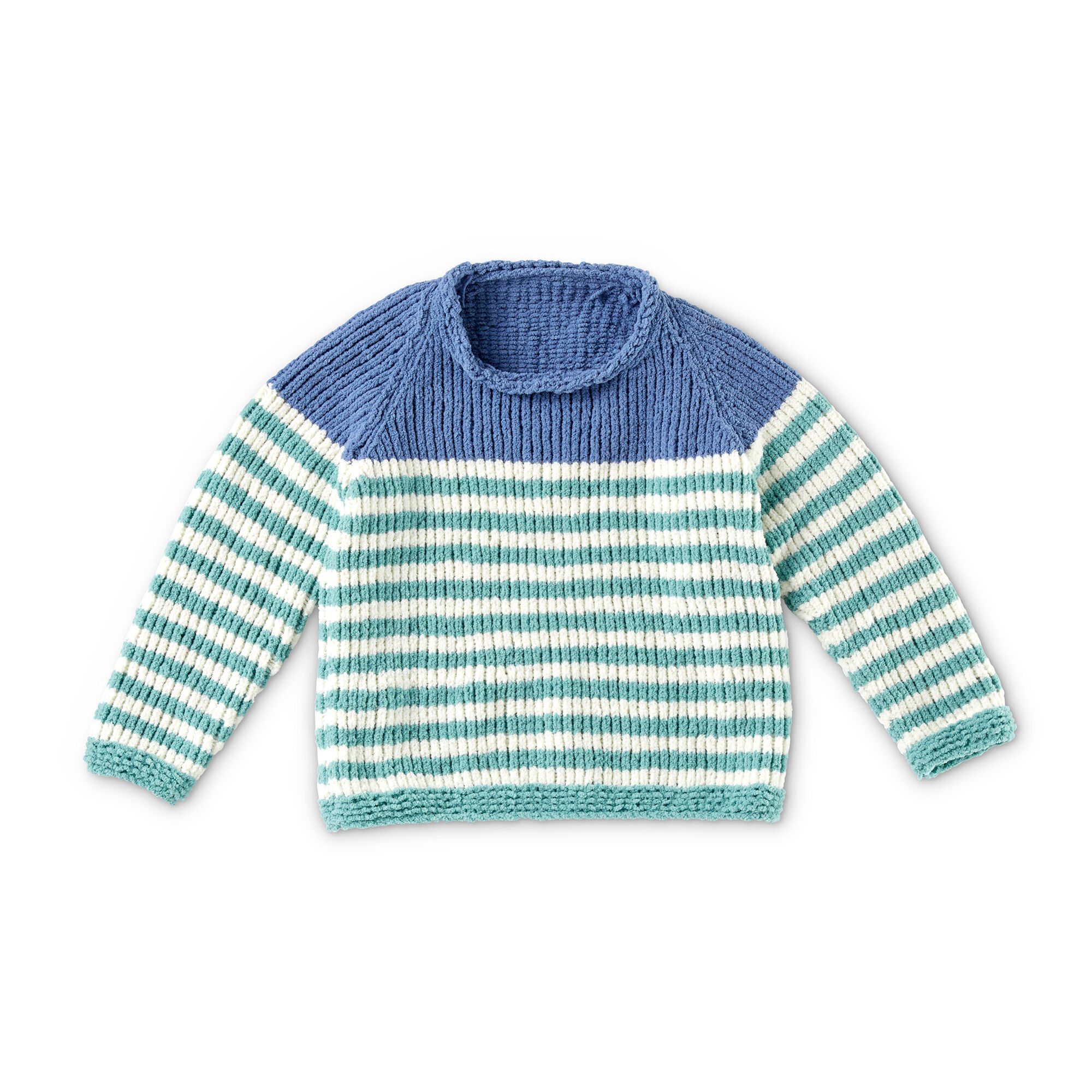 Bernat Knit Raglan Stripes Pullover, 4 yrs | Yarnspirations