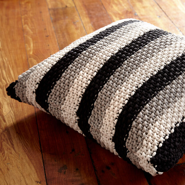 Bernat Stepping Stripes Pillow in color