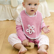 Red Heart Blossom Bib