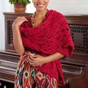 Go to Product: Red Heart Wrap-sody in Red in color