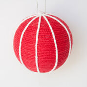 Lily Sugar'n Cream Wrapped Tree Ornaments, Red