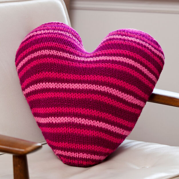 Red Heart Pillow Talk in color