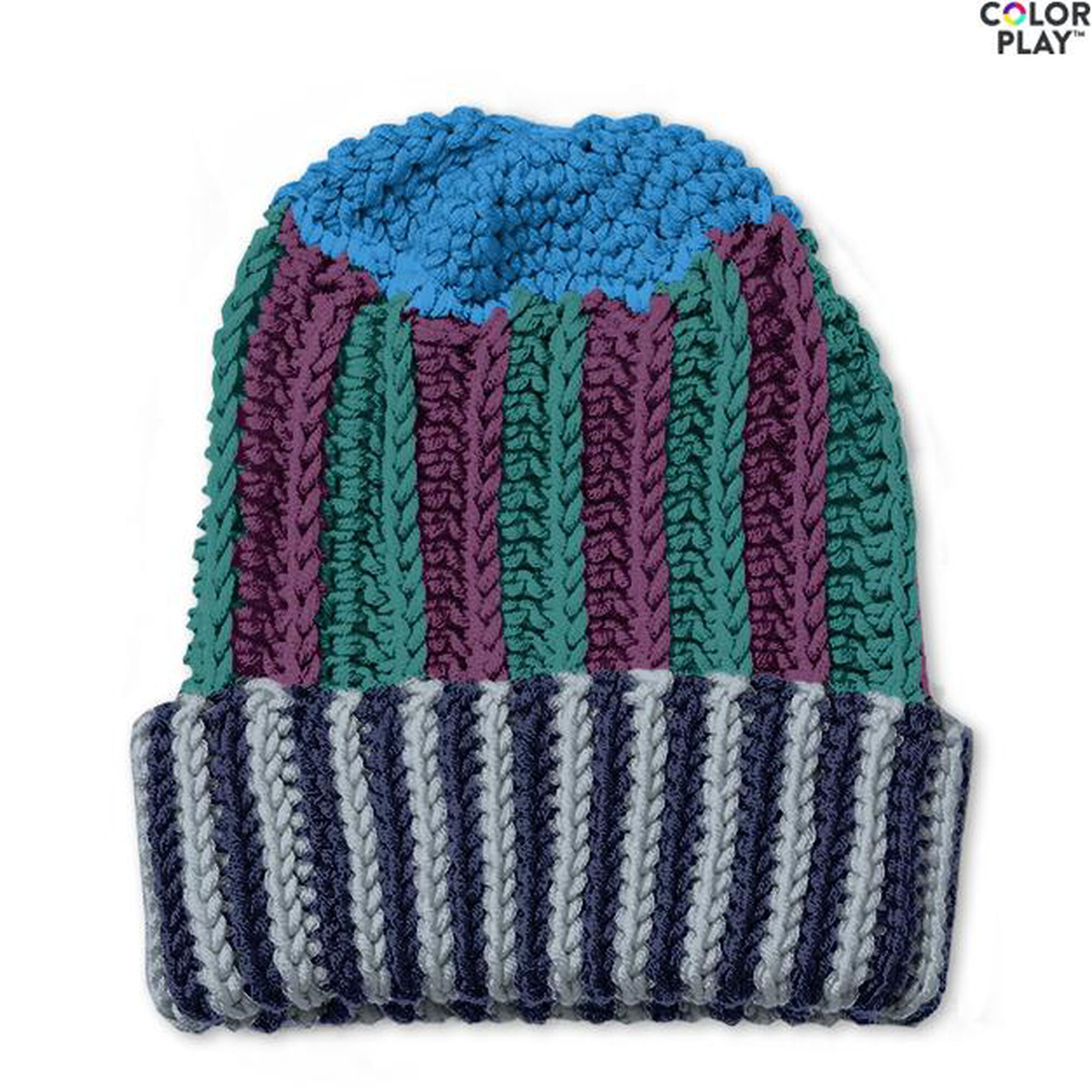 Caron X Pantone Multi Stripes Crochet Hat Free Pattern Yarnspirations