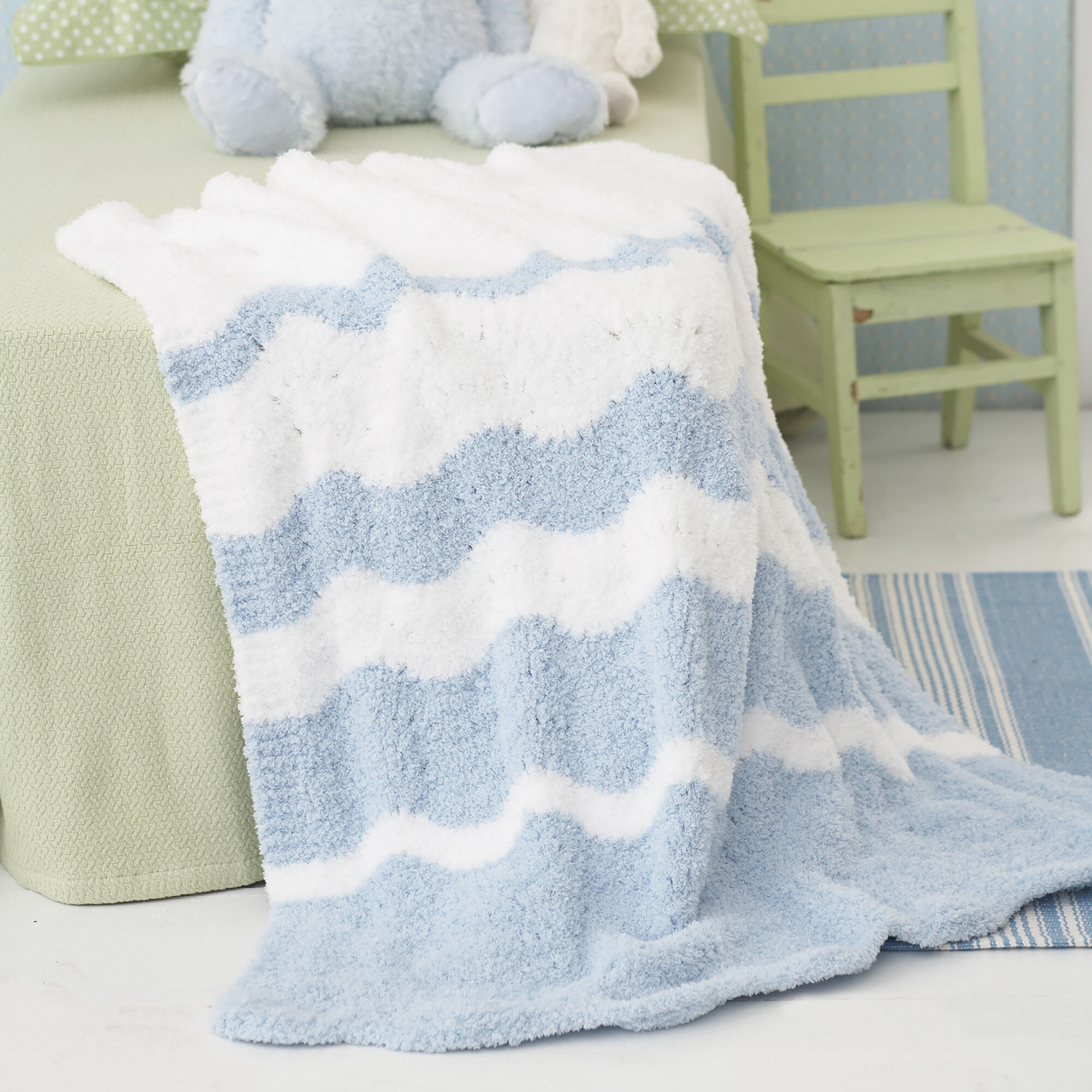 Bernat Fading Waves Blanket | Yarnspirations