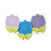 Lily Sugar'n Cream Too Cute Tulip Crochet Pot Holder, Version 1